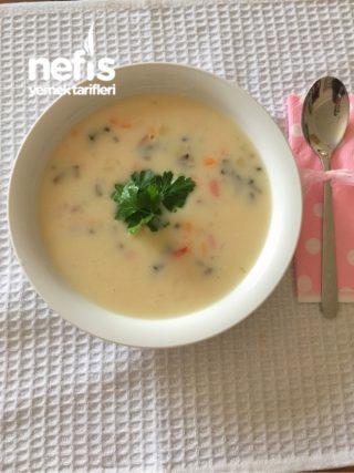 Sütlü Mısırlı Sebze Çorbası