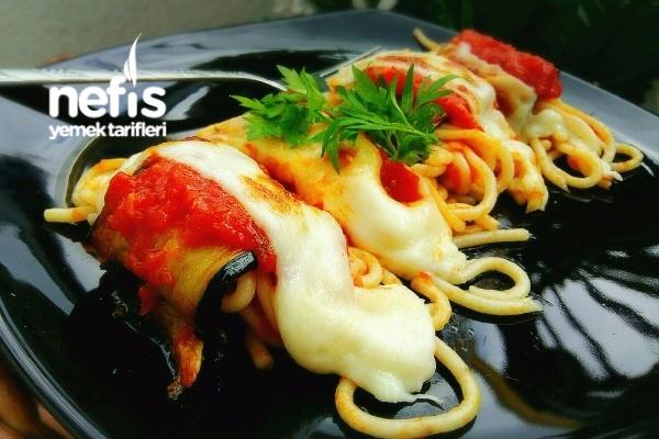 Patlıcanlı Rulo Spaghetti Tarifi