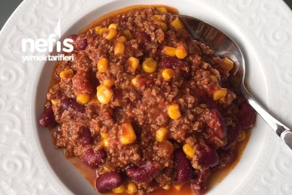 Pratik Kıymalı Fasulye (Meksika Yemeği) Chili Con Carne Tarifi