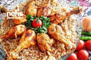Tel Şehriyeli Bulgur Pilavı Eşliğinde Özel Köri Soslu Tavuk