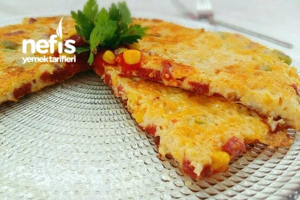 Kahvaltılık Pizza Omlet Tarifi