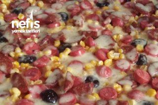 Mayasız Yumuşacık Pizza (Yap Pişir Doya Doya Ye) Tarifi