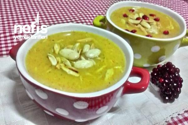 Bademli Tavuk Çorbası ( Osmanlı Mutfağından)