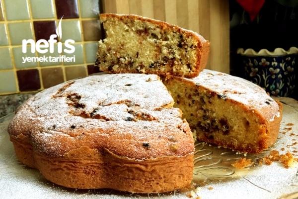 Puf Puf Şölen Kek (Kuru Meyveli Damla Çikolatalı-Püf Noktalarıyla) Tarifi