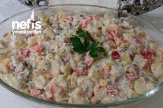 Yoğurtlu Patates Salatası (Nefis Gün Salatam) Tarifi