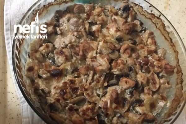 Kremalı Tavuklu Mantar( Basit Ve Lezzetli ) Tarifi