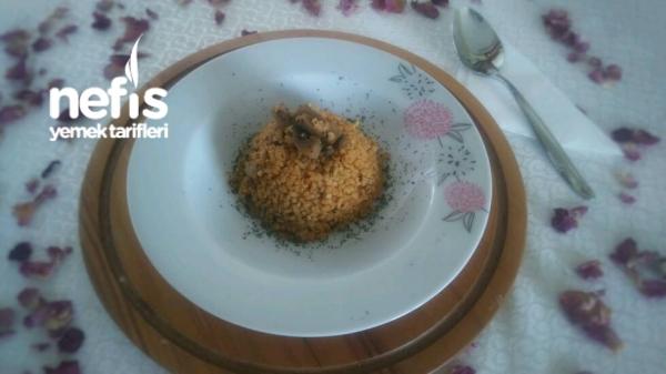 Mantarlı Sebzeli Bulgur Pilavı