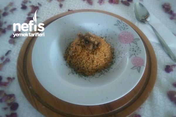 Mantarlı Sebzeli Bulgur Pilavı Tarifi