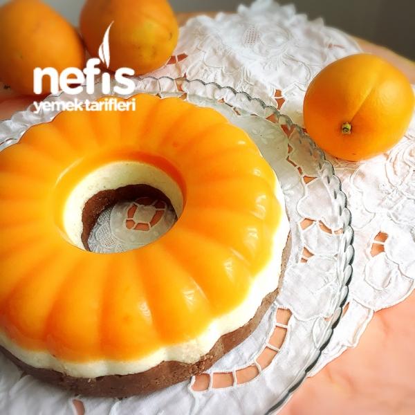Portakallı 3 Renkli İrmik Pastası