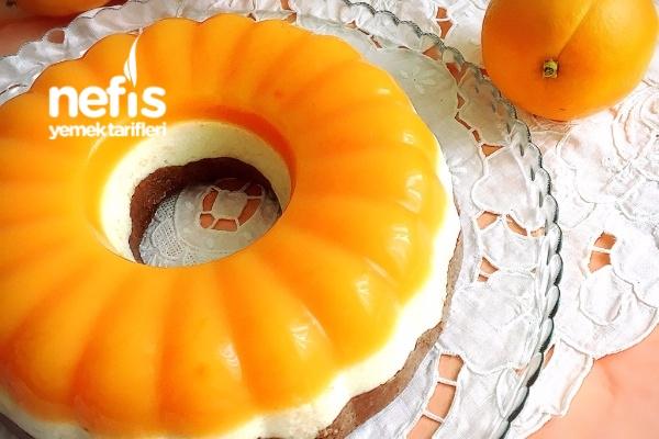 Portakallı 3 Renkli İrmik Pastası Tarifi