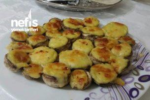Patates Püreli Kaşarlı Mantar (Et Tavuk Köfte Yanına Garnitür ) Tarifi