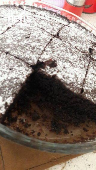 kakaolu kek (kızımla yaptığım ilk kek)