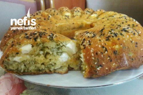 Börek Tadında Peynirli Tuzlu Kek (videolu) Tarifi