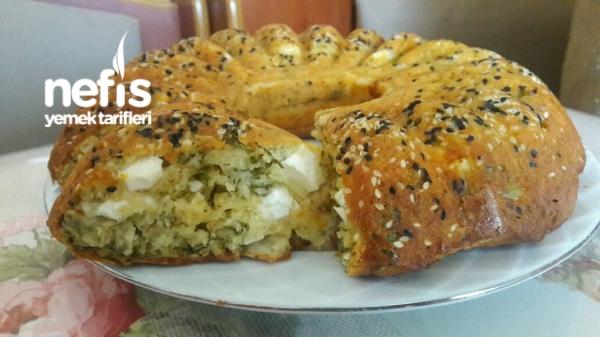 Börek Tadında Peynirli tuzlu Kek