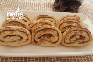 Çikolatalı Rulo Kurabiye (Bisküvi Tadında Nefis) Tarifi