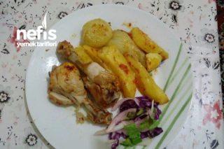 Fırın Poşetinde Patatesli Tavuk Tarifi