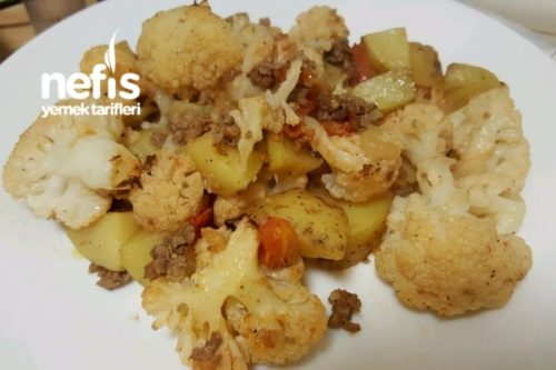 Kıymalı Patatesli Karnabahar Yemeği Tarifi Videosu