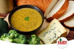 Brokolili ve Küflü peynirli Kremalı Sağlıklı Çorba