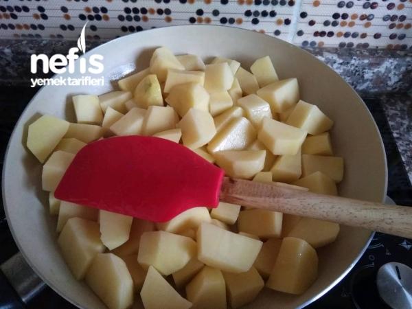 Pastırmalı Tavuklu Patates