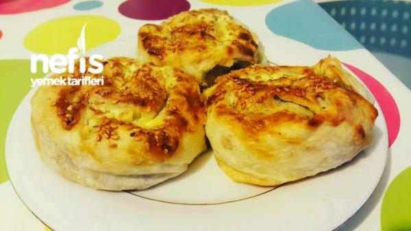 Ispanaklı Börek (Çiğ Malzemeden)