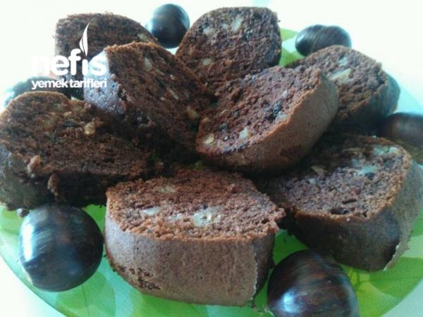 Çikolatalı Cevizli Kestaneli Yumoş Kek