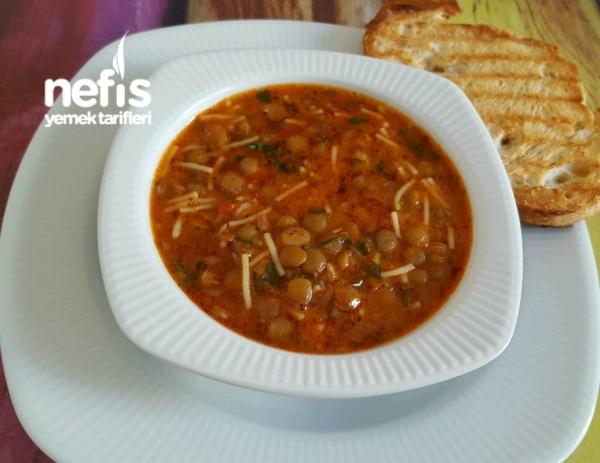 Yeşil Mercimek Çorbası (Yüzde Yüz) Lezzetli