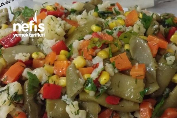 Taze Fasulye Salatası (Harika Lezzet) Tarifi