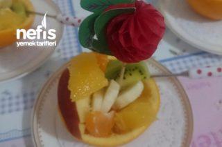 Portakal Çanağında Meyve Sunumu Tarifi