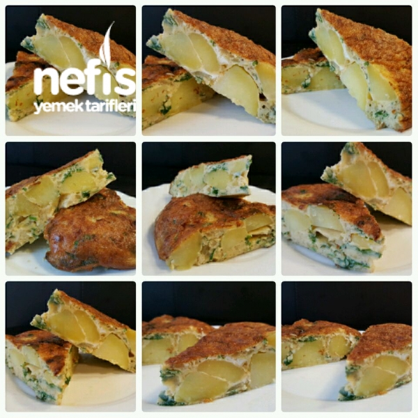 Patatesli Omlet - Nefis Yemek Tarifleri - Hatice78