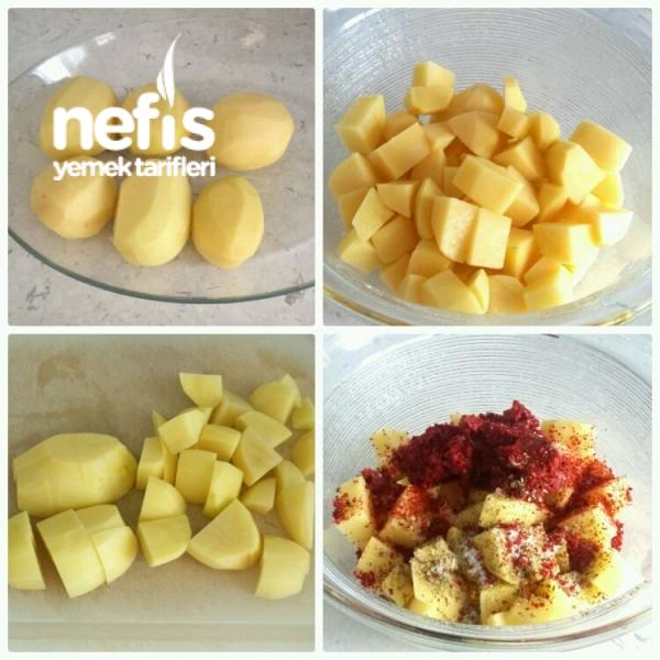 Fırında Soslu Patates