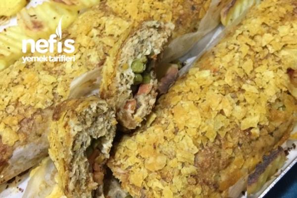 Cipsli Rulo Tavuk Ve Patates Buluşması Tarifi