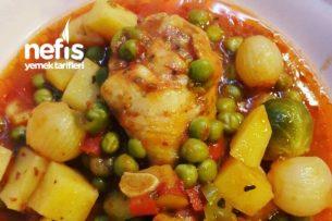Fırında Sebzeli Tavuk (Tavuk Baget) Tarifi