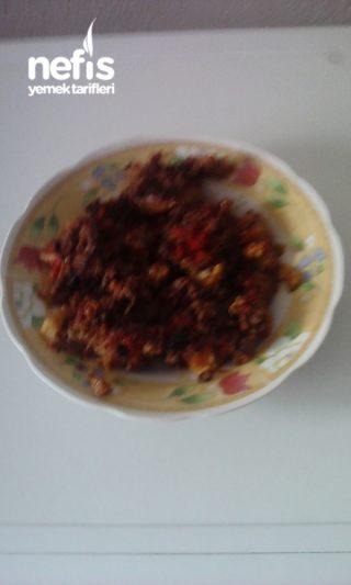 Kıymalı patlıcan ve patatasli oturtma