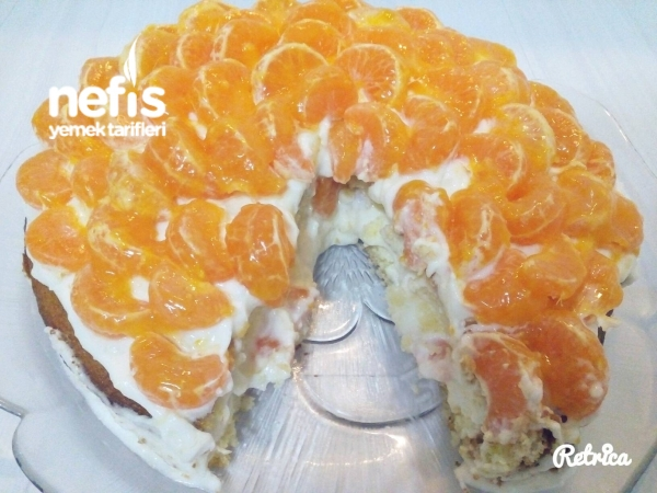 Mandalinalı Kremalı Pasta