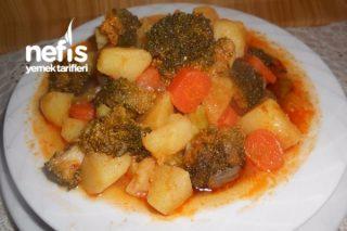 Brokolili Havuçlu Zeytinyağlı Patates Yemeği Tarifi