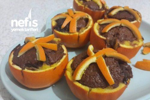 Portakal Çanağında Kakaolu Kek Tarifi