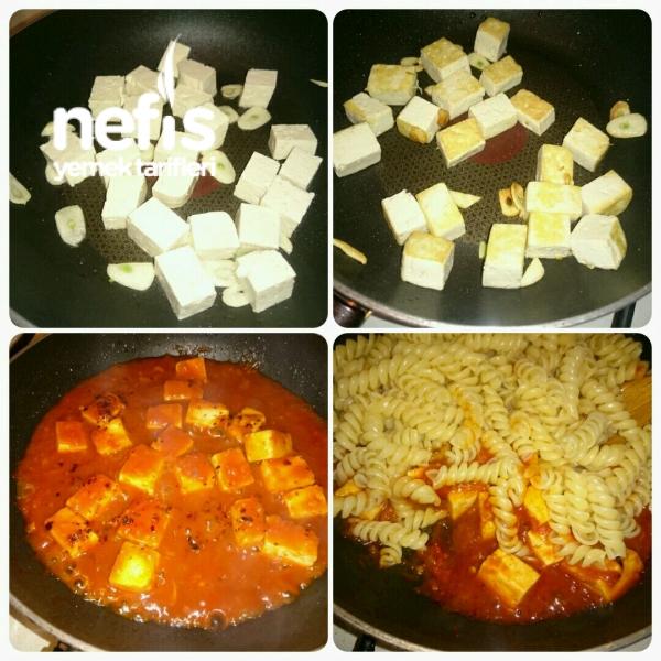 Tofu Peynirli Makarna