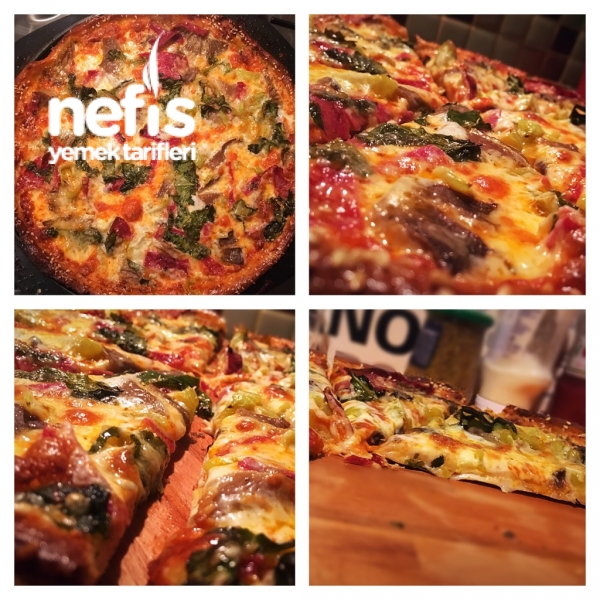 Şefinden Pizza Tarifi (İtalyan Hamur)
