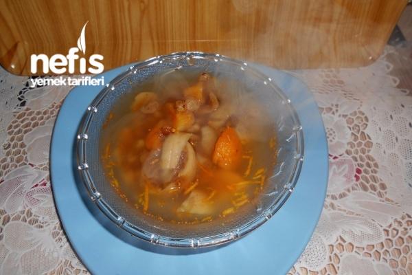 Portakal Kabuğu Rendeli Üç Kuru Meyveli Hoşaf Tarifi