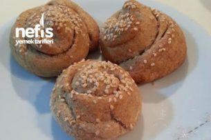 Çörek Tarifleri - Tam Buğday Unlu Tahinli Çörek Tarifi