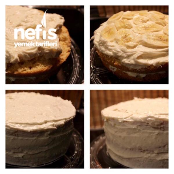 Pastane Tadında Muzlu Pasta