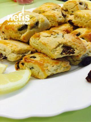 Üzümlü, Limonlu Pastane Kurabiyesi ( Bu Tarif Kaçışmaz)