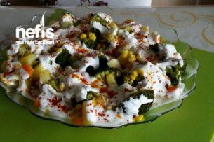 Mantı Tadında  Brokoli Salatası (Tavada Pişen ) Tarifi