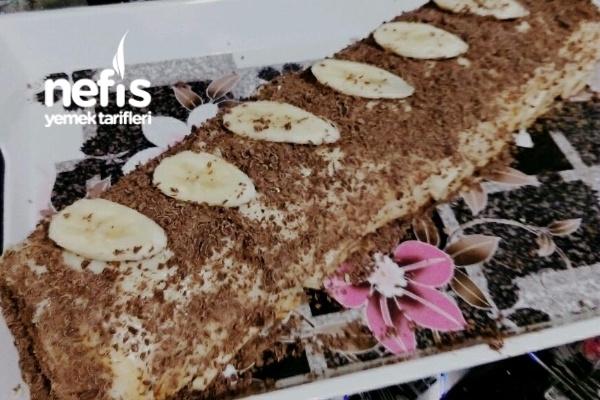 Muz ve Çikolata Aşkı (Rulo Pasta) Tarifi