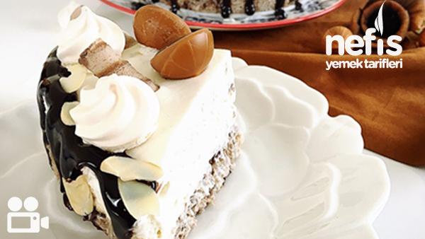 Hurmalı Muzlu Pişmeyen Pasta Videosu Tarifi