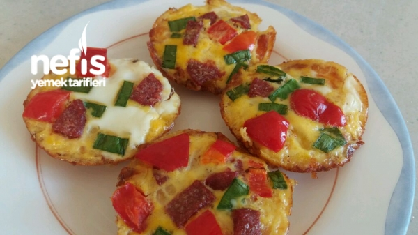 Kahvaltilik Muffin Omletler