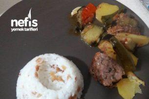 Kebap Tarifleri - Patatesli Patlıcanlı Köfteli Tepsi Kebabı Tarifi
