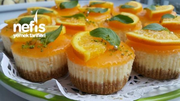 Portakallı Porsiyonluk Chesecake