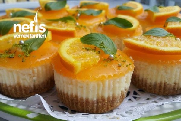 Portakallı Porsiyonluk Cheesecake Tarifi