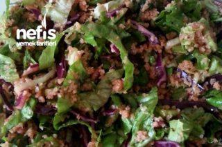 Pırasalı Yeşilllikli Bulgur Salatası (Kısır Tadında) Tarifi